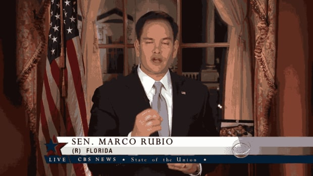 Marco Rubio's Nervous Sip of Water Is the Only Thing Anyone Will Remember About His State of the Union Response