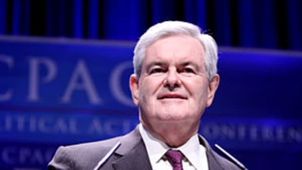 English: Former Congressman Newt Gingrich of G...