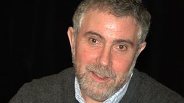 English: Paul Krugman at the 2010 Brooklyn Boo...