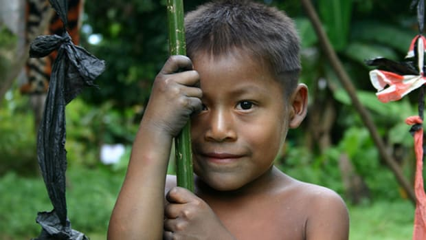 Embera Wounaan boy by sensaos.