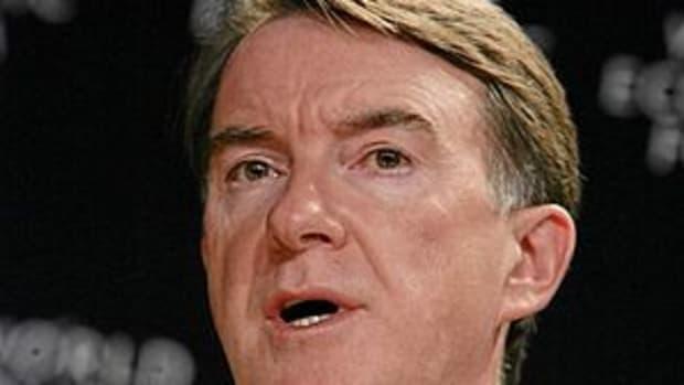DAVOS/SWITZERLAND, 27JAN07 -Peter Mandelson, C...