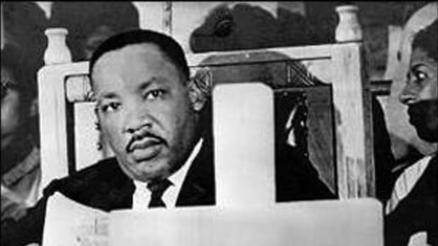 Martin Luther King in church