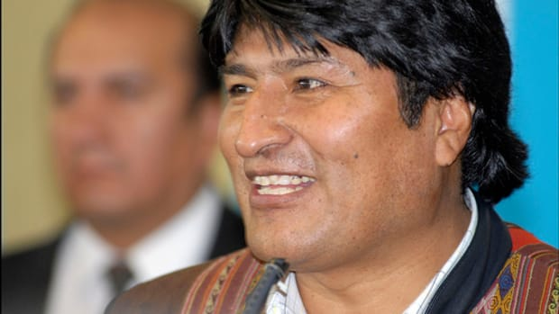 Evo Morales by Alain Bachellier.