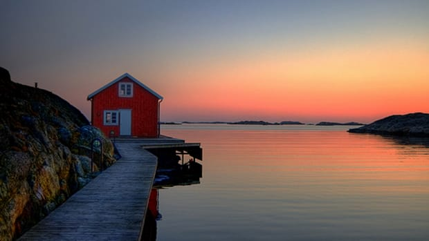 A Sunset and a Archipelago in Sweden by Johan Runegrund.