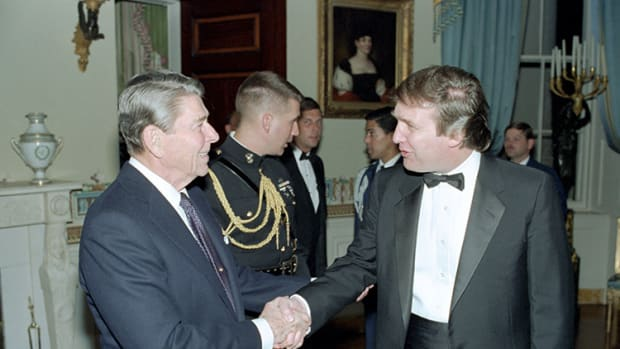 Ronald Reagan Donald Trump 1987