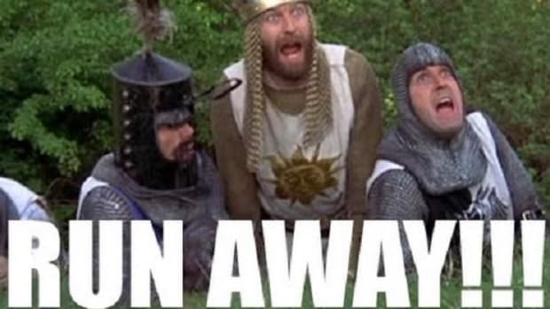 monty python run away