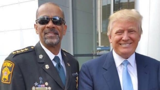 Sheriff David Clarke with Donald Trump. Photo via Right Wisconsin