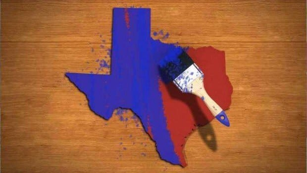 texas turns blue