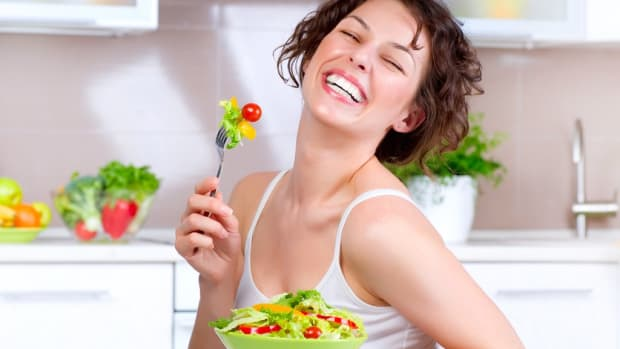 Woman Eating Salad One