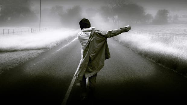 Sad-Man-Walk-In-Alone