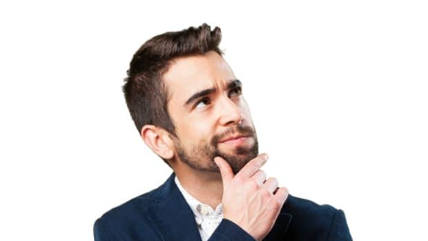 Thinking man beard suit
