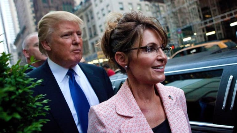 "Sarah Palin Crawls Out of the Woodwork to Urge ""Smart Democrats"" to Join Trump"
