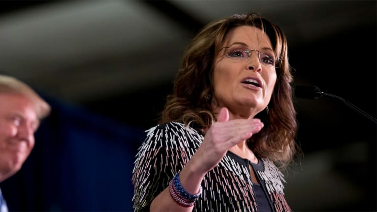 Sarah Palin Defends Trump's Violent Rhetoric by Totally F*cking Up the First Amendment. Again.