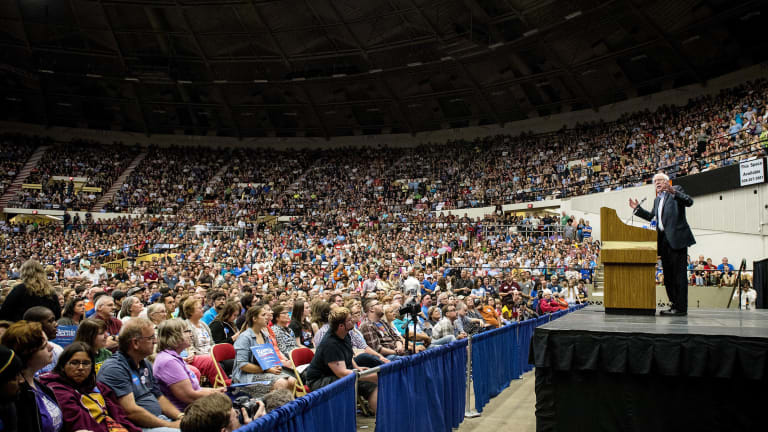Bernie's Crowds Continue to be YUUUGE! So, Why is He Still Behind?