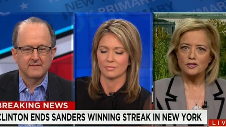 Watch Brooke Baldwin and Hilary Rosen Handle Enormous Jerk Bernie Bro