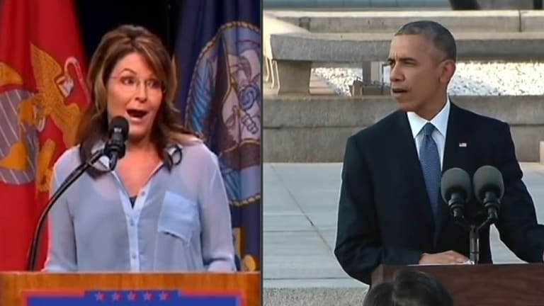 Here's Sarah Palin Lying About Obama's Hiroshima Speech, And What He Actually Said