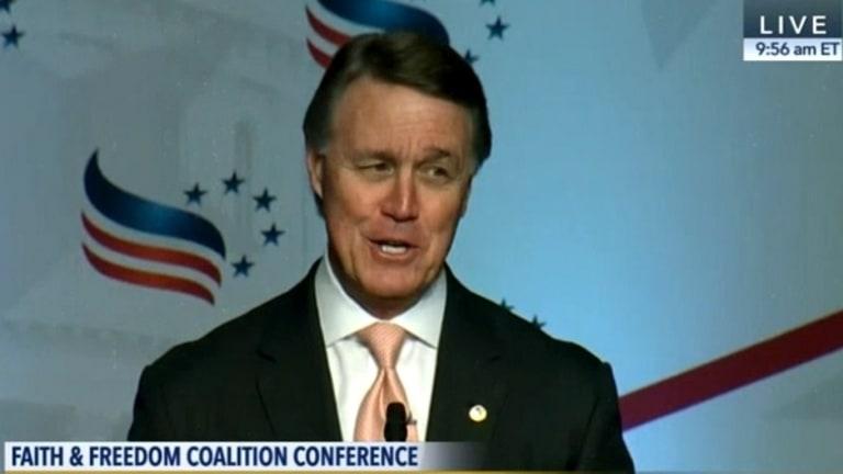 Watch Scumbag Republican Senator Pray for Obama's Death