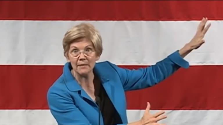 Watch Elizabeth Warren Cook Up Scott Brown and Donald Trump Like Racist Gumbo