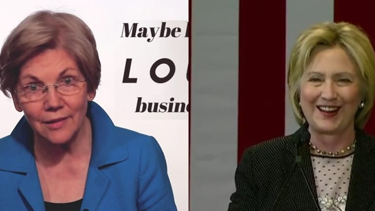 Watch Hillary Clinton and Elizabeth Warren Smack Donald Trump Around Like Fredo