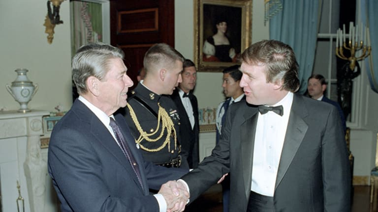 Ronald Reagan Got Photographed With Donald Trump a Lot