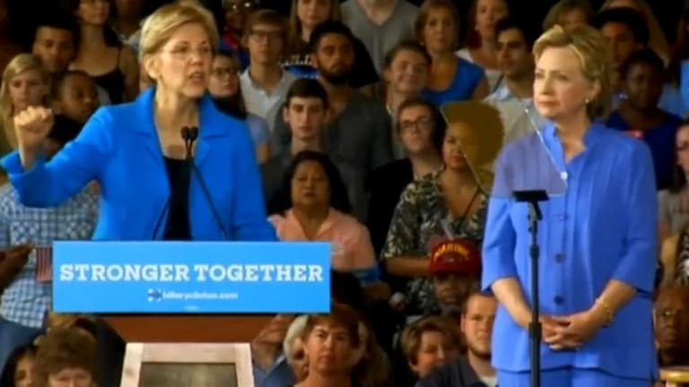 Elizabeth Warren Continues to Whip Trump Bloody Like a Coked-Up Roman Guard