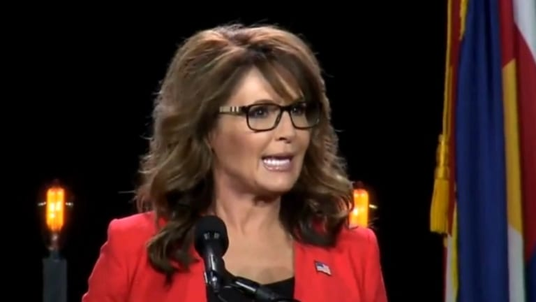 Watch Sarah Palin Run Out of Words For Her Salad and Just Make Up New Ones