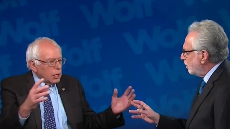 "Watch: Bernie Sanders Keeps Calling Wolf Blitzer ""Jake"" Even After He's Corrected"