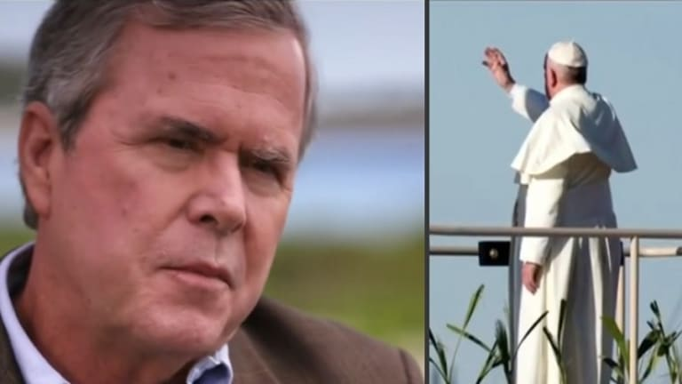Jeb Bush Thinks He Lost to Donald Trump Because of THE POPE. Really.