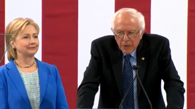 Watch Bernie Sanders Finally Getting Around To Endorsing Hillary Clinton