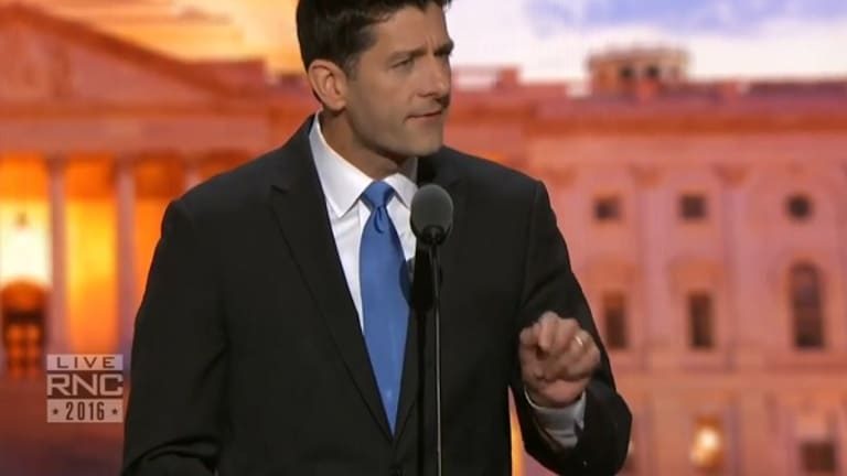 Watch Paul Ryan Hilariously Try to Avoid His Own Stealth Donald Trump Reference