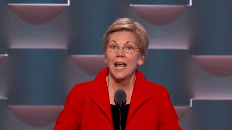 Two Pathetic Bernie Bros Heckle Elizabeth Warren During DNC Speech