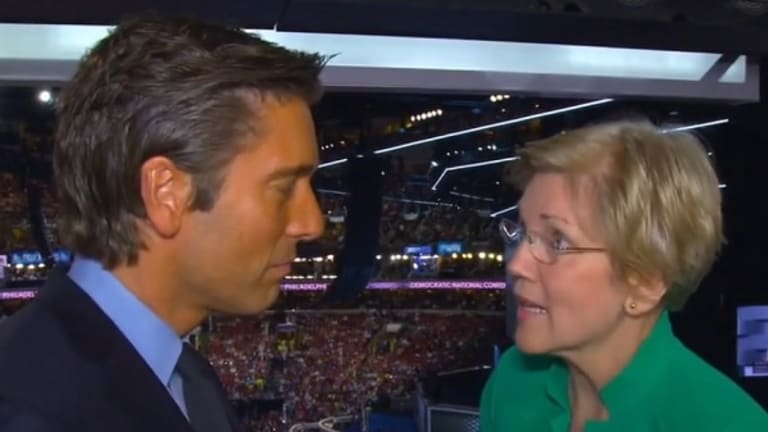 Elizabeth Warren Has Just Two Words For Reporter Who Scolded Her For Calling Trump Racist