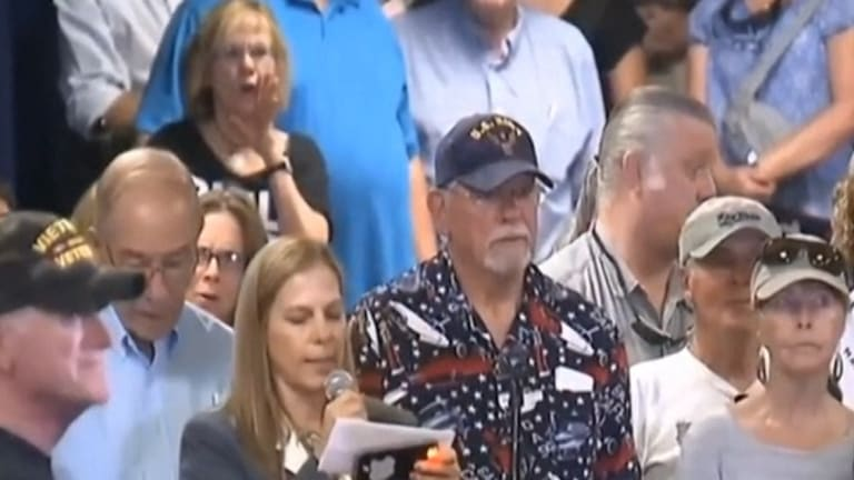 Scumbag Trump Fans Boo and Heckle Military Mom at Mike Pence Rally