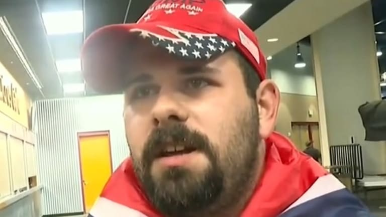 Watch This Donald Trump Fan Who Brought Confederate Flag to Rally Explain History