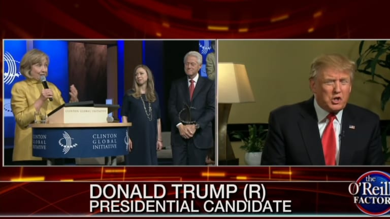 Watch Donald Trump and His Campaign Manager Defend The Clinton Foundation