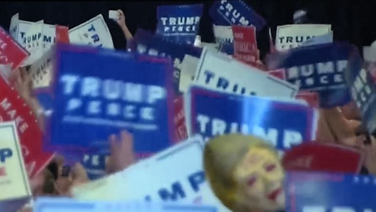 This Isn't Funny Anymore: Donald Trump Fans Wave Bloodied Hillary Head on a Pike at Rally