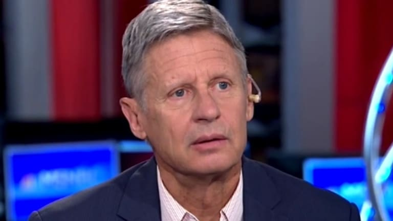Gone in 23 Seconds: Watch Gary Johnson Completely Destroy His Own Presidential Candidacy