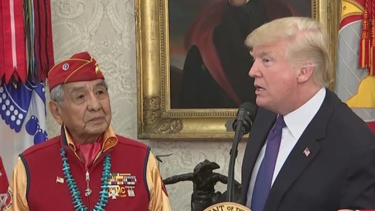 Trump Calls Elizabeth Warren 'Pocahontas' During Event Honoring Navajo Code Talkers