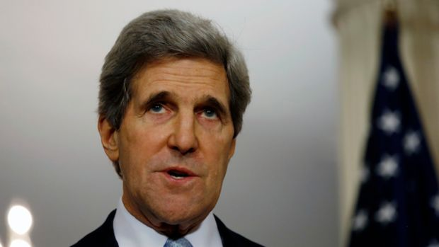 U.S. Secretary of State John Kerry spea