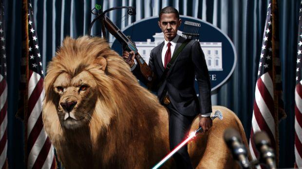 Obama lion