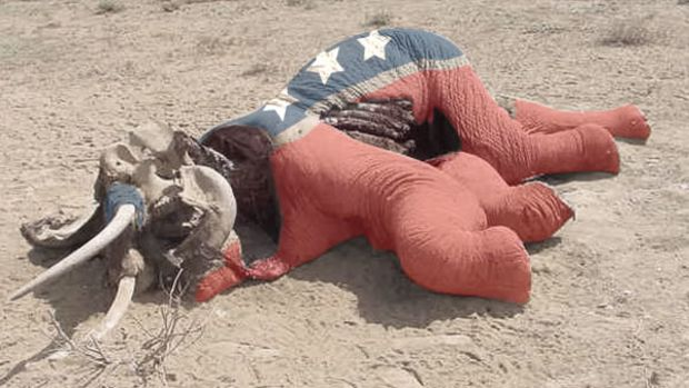 Decaying GOP Elephant