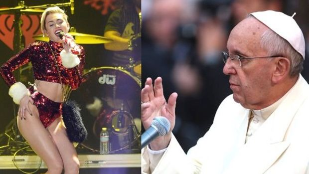 pope vs miley
