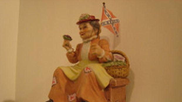 confederate flag woman