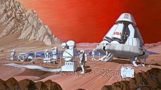 English: NASA artist's conception of a human m...