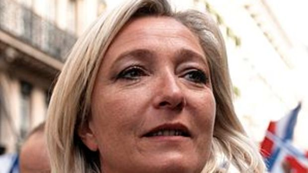 Marine Le Pen at the 1st of May National Front...