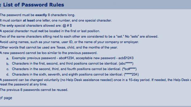 Password Req