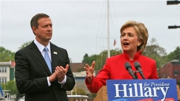 Hillary Clinton and Maryland Gov. Martin O'Malley