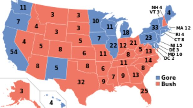 (en) results of the U.S. presidential election...