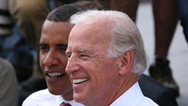 Deutsch: Joe Biden und Barack Obama in Springf...