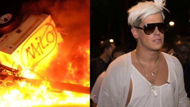Milo protests